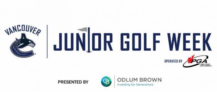 canucks junior golf week banner